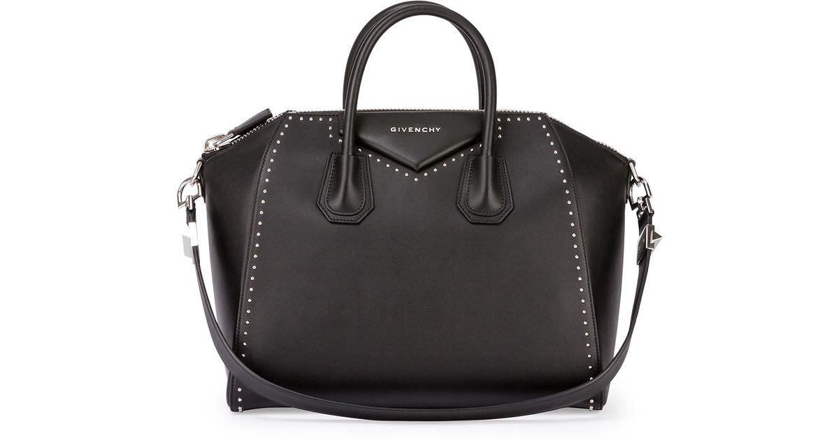 Givenchy - Black Antigona Medium Studded Satchel Bag - Lyst 9a41df0fecc35