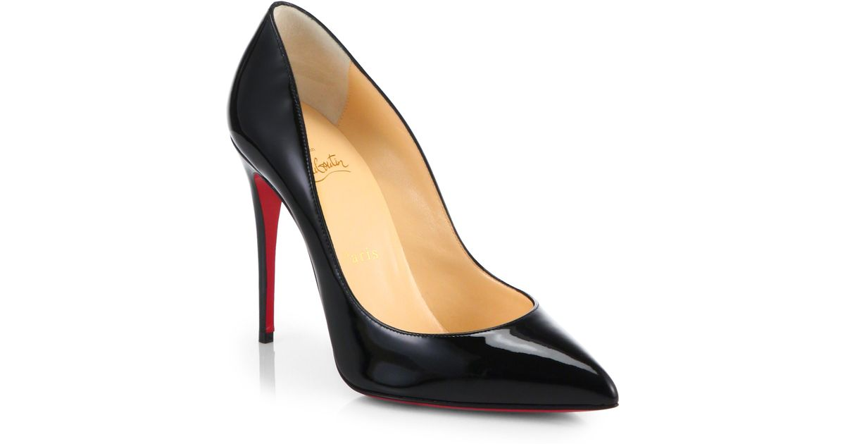 patent leather boat shoes men - Christian louboutin Pigalle Follies Patent Leather Pumps in Black ...