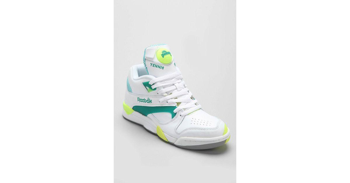 Lyst - Reebok Reserve Court Victory Pump Sneaker in Green for Men 4dcbd94df054