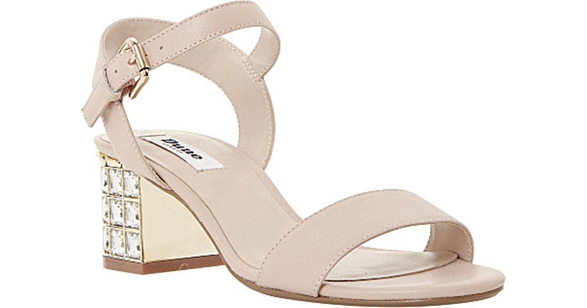 51ff9e108e43 Dune Harah Jewelled Suede Sandals