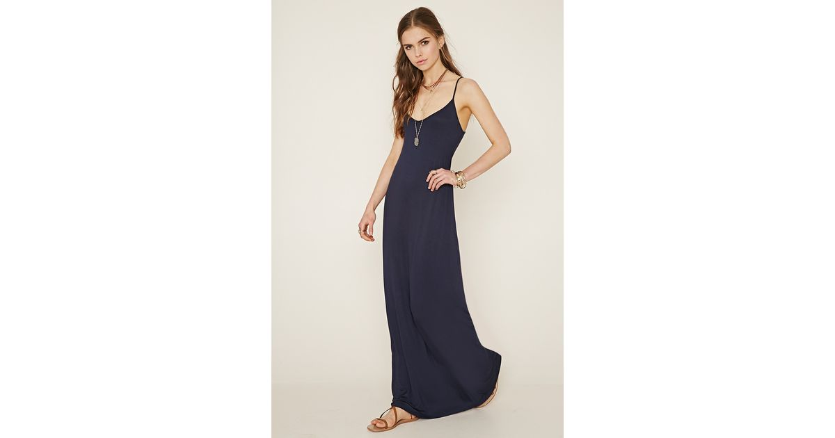 Lyst Forever 21 Cami Maxi Dress In Blue