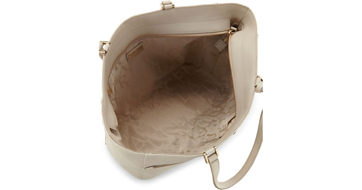 Lyst Natural Furla Bag Tote East West Leather Musa wOukXTPlZi