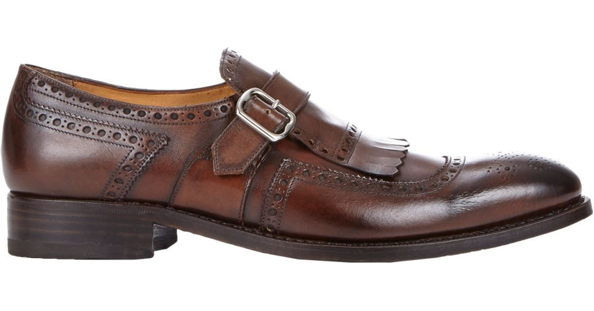 Womens Brown Monk Shoes