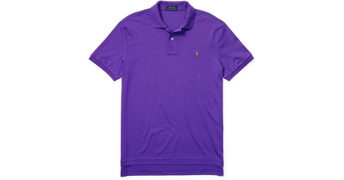 3eb249c2 Polo Ralph Lauren Pima Soft-touch Polo Shirt in Purple for Men - Lyst