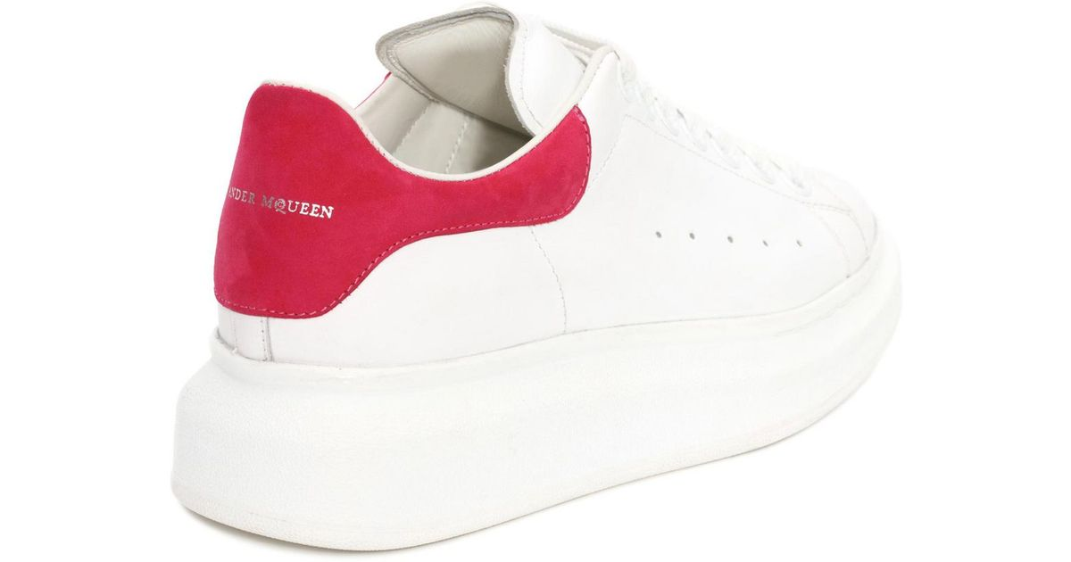 Red and White Colorblock Sneakers Alexander McQueen QcKi4UqY7