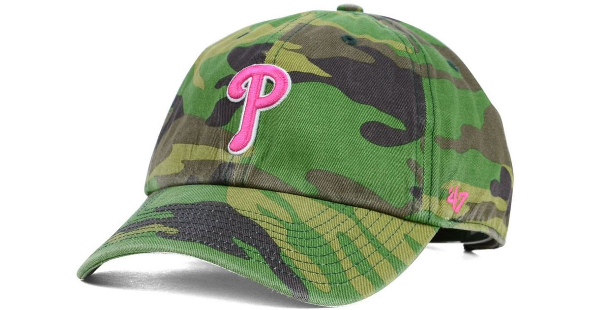 Lyst - 47 Brand Women s Philadelphia Phillies Clean Up Cap in Green 629707a3e9