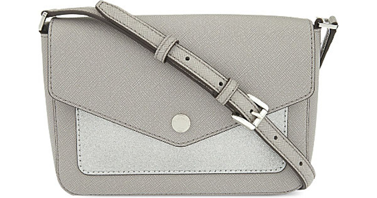 Lyst - MICHAEL Michael Kors Greenwich Small Leather Cross Body Bag in  Metallic 9d49d1ff8a0c2