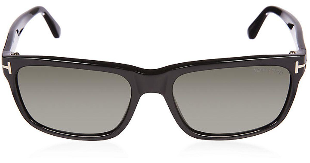 72e20ae44e25 Tom Ford Hugh Polarized Square Wayfarer Sunglasses in Green for Men - Lyst