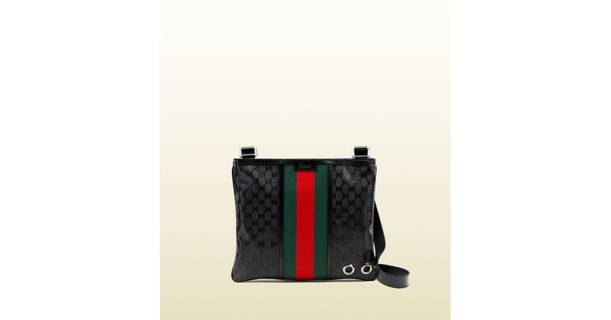 cb35678dba0c1d Gucci 500 By Gg Imprimé Messenger Bag in Black for Men - Lyst