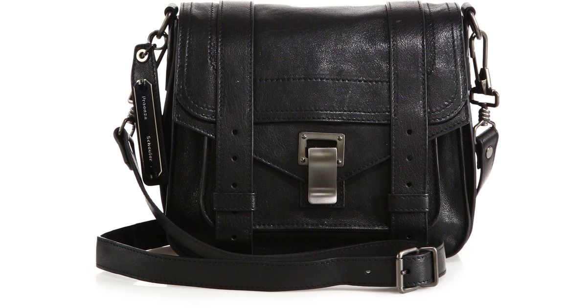 0e49c894a Proenza Schouler Ps1 Pouch Leather Crossbody Bag in Black - Lyst