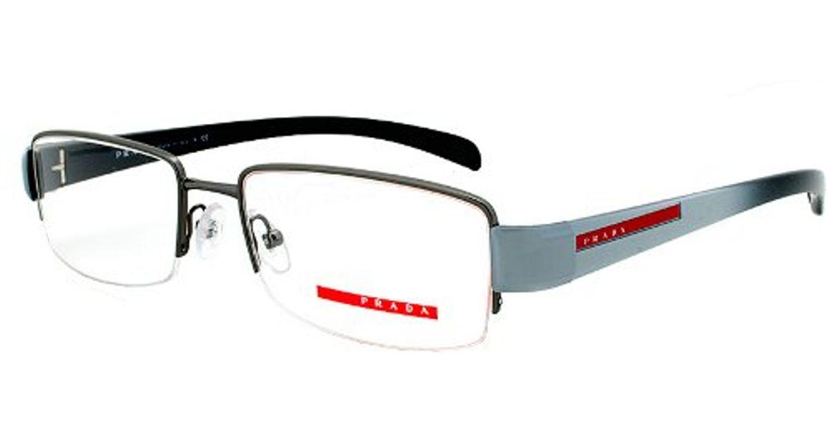 Prada Eyeglass Frames Vps 55a Jaq-1o1 Gunmetal Grey ...