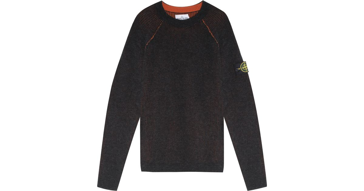 Lyst Stone Island Reversible Knit Sweater In Black For Men