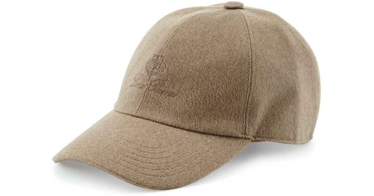 e4dd1957609 Lyst - Loro Piana Cashmere Storm System Baseball Cap in Natural for Men