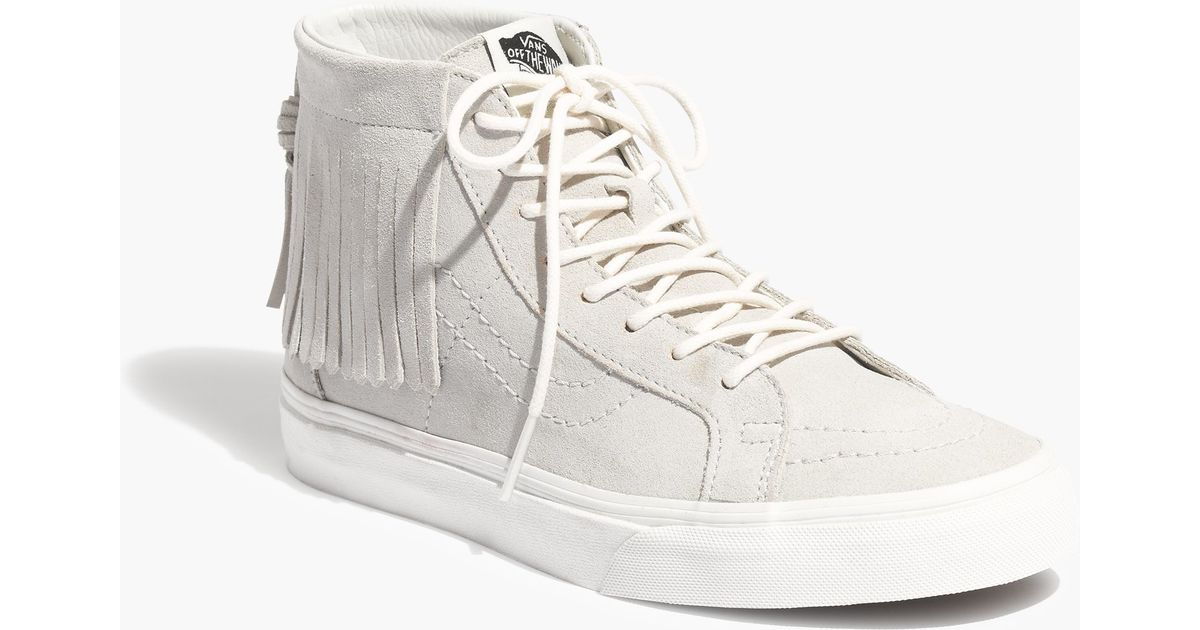 77687d293d Madewell Vans® Sk8-hi Moccasin High-top Sneakers in Gray - Lyst