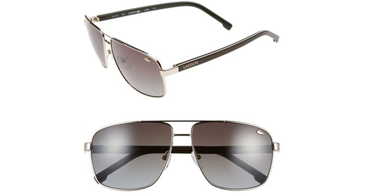 725defd846d Lyst - Lacoste 61mm Metal Navigator Sunglasses in Metallic for Men