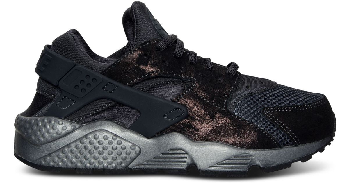 d60d1d6afb28 Lyst - Nike Women s Air Huarache Run Premium Running Sneakers From Finish  Line in Gray