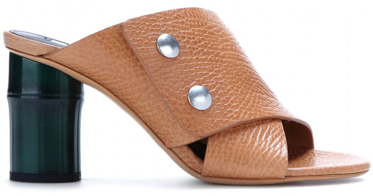 ec45dc489 Lyst - Acne Studios Mara Leather Sandals in Brown