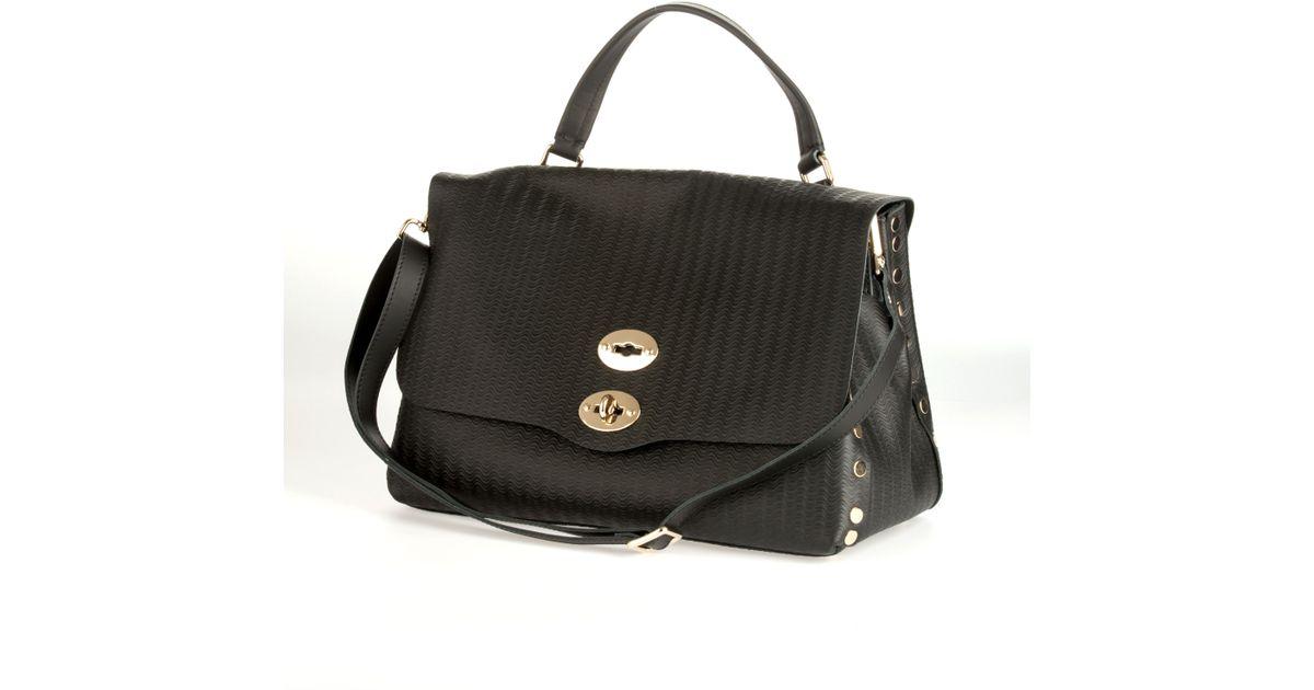 Zanellato Black Leather La Postina Cachemire Blandine in Black ...
