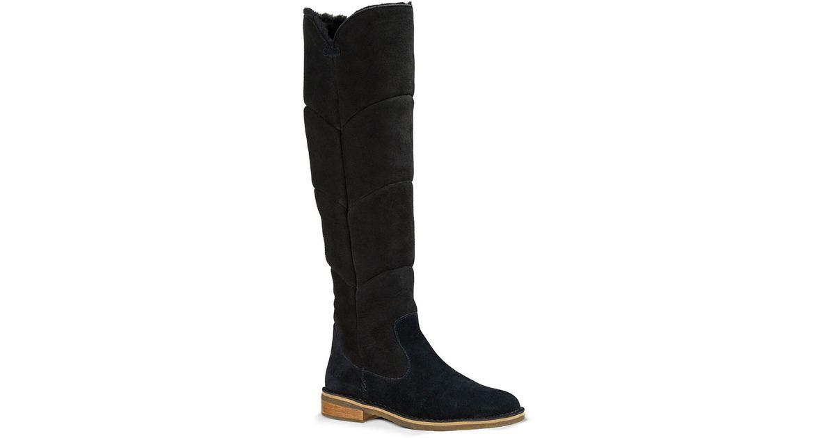 ugg knee high sheepskin boots in black lyst