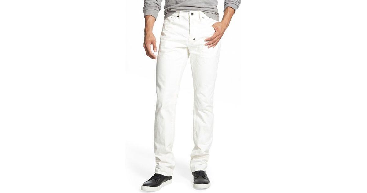 a30f5ac0107 Lyst - Prps  demon - Jeremi  Straight Leg Jeans in White for Men