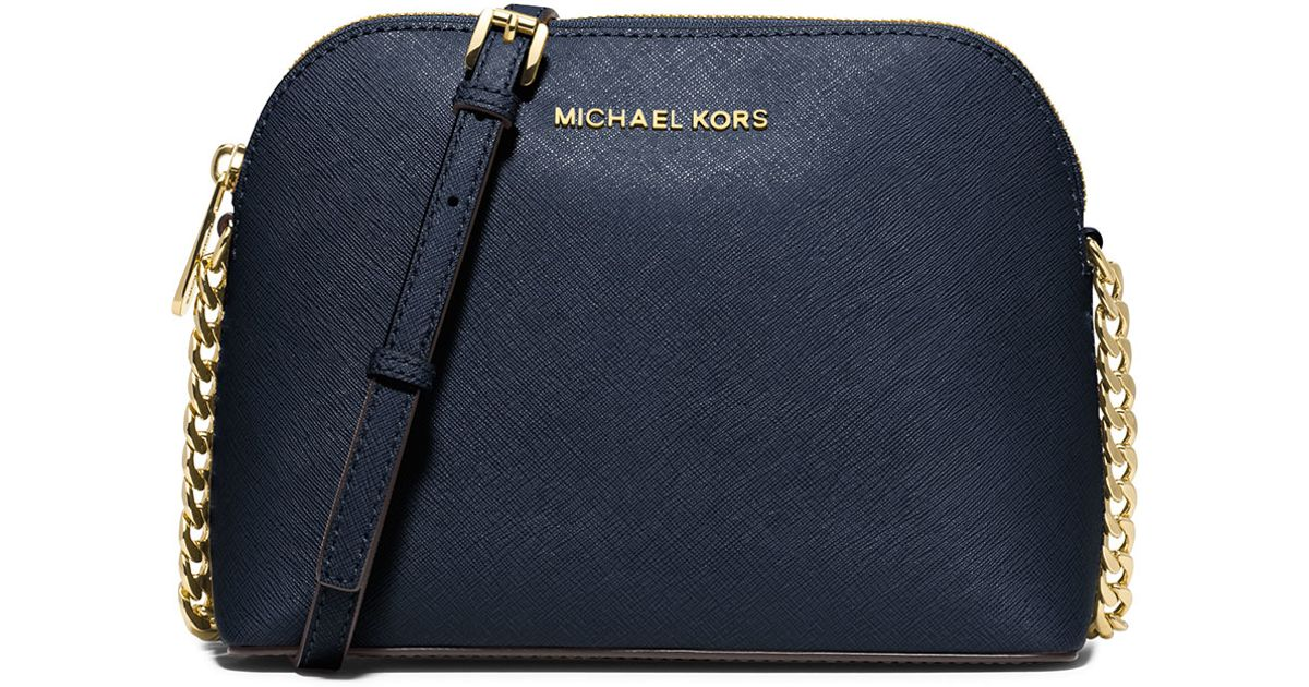 9866b2f9789c MICHAEL Michael Kors Cindy Large Dome Saffiano Crossbody Bag in Blue - Lyst