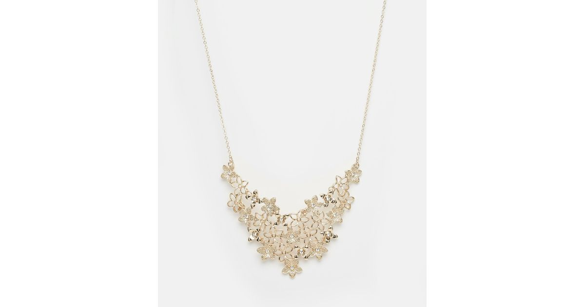 kacy necklace kacyworld buy metal necklaces product golden flowers com flower online at