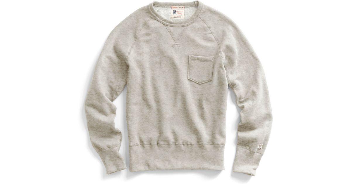 todd snyder pocket sweatshirt in oatmeal in beige for men. Black Bedroom Furniture Sets. Home Design Ideas