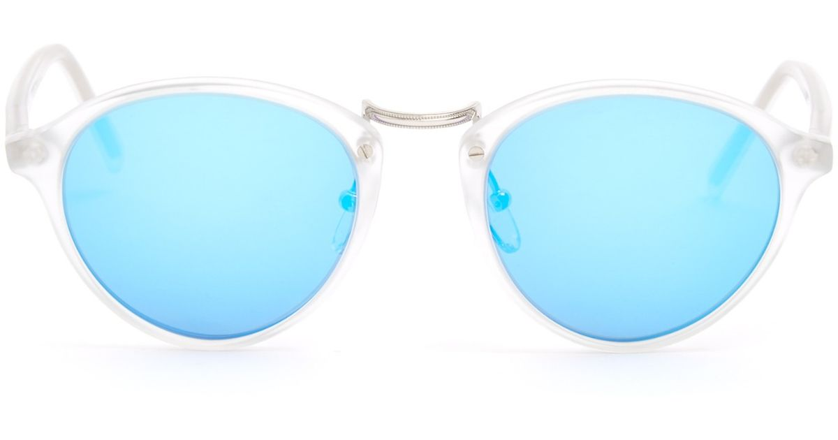 cb6d221bceb Lyst - Spektre Audacia Mirrored Sunglasses in Blue