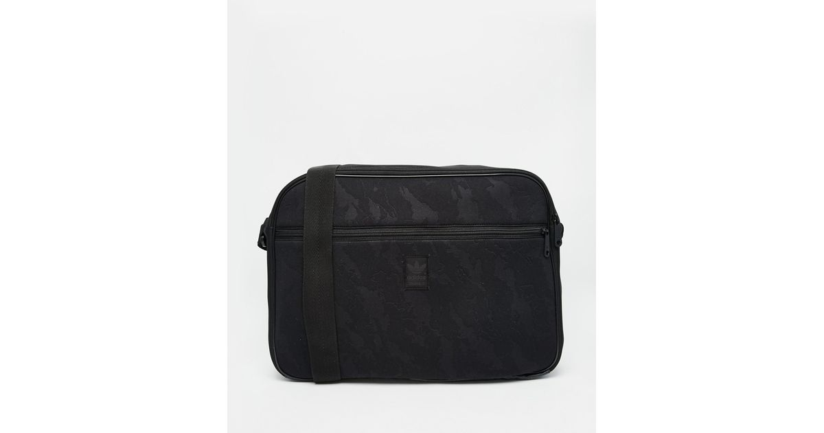 Adidas Originals Airliner Messenger Bag in Black for Men - Lyst ea962ac1f7e3e