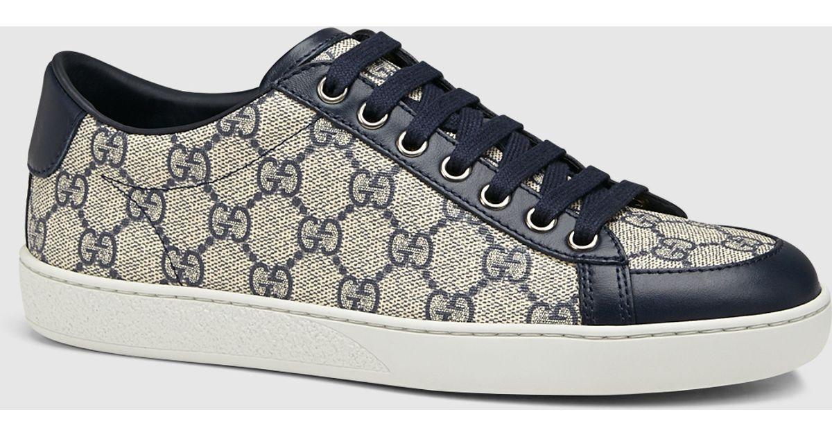 cb9c955b4b52 Gucci Brooklyn Gg Supreme Canvas Sneaker in Gray - Lyst