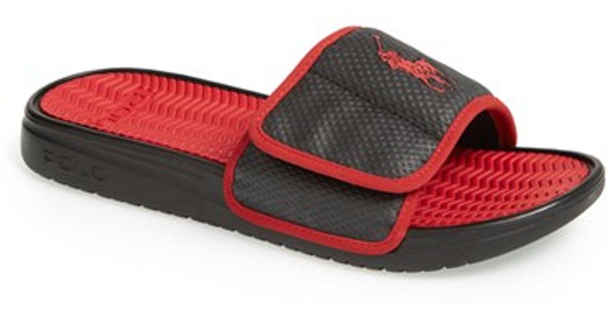 Lyst - Polo Ralph Lauren  romsey  Slide Sandal in Black 8d485d79f91