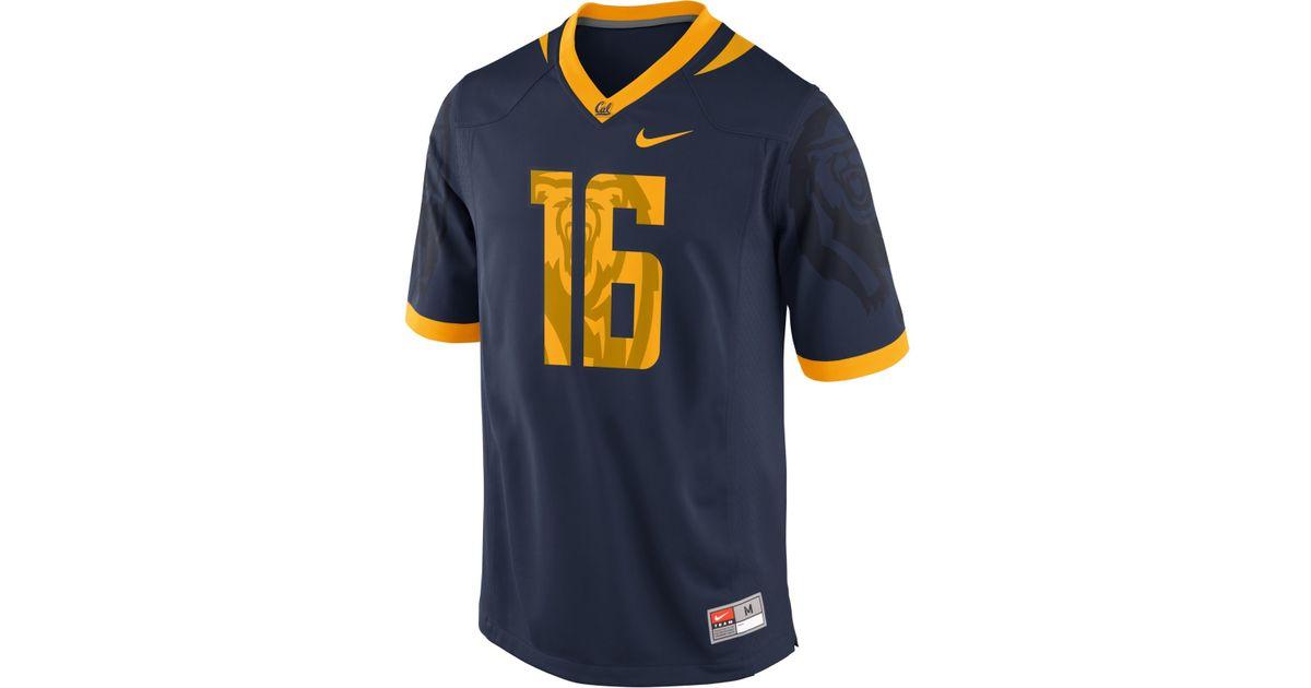 huge selection of 83a69 d5141 Nike Blue Men's California Golden Bears Replica Football Game Jersey for men