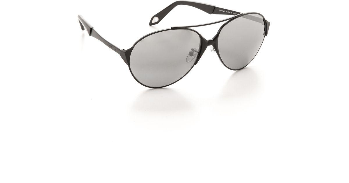 e3bf044c3ddd Lyst - Givenchy Round Aviator Sunglasses - Matte Black Smoke in Black