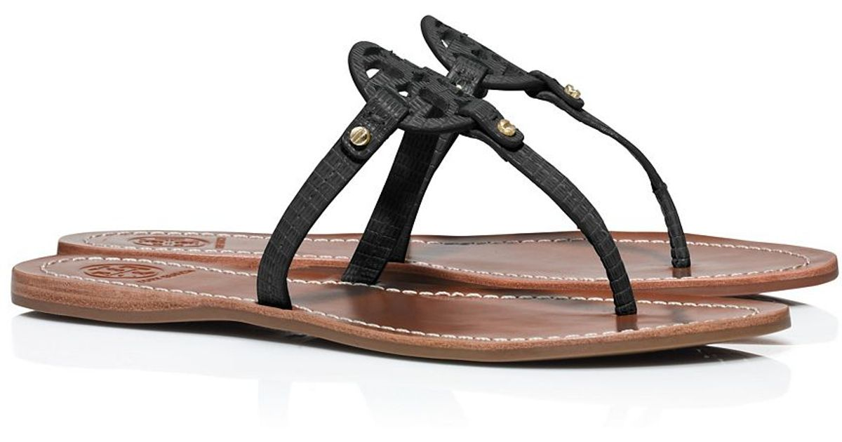 99ca5dd53ca Lyst - Tory Burch Mini Miller Flat Thong Sandal in Black