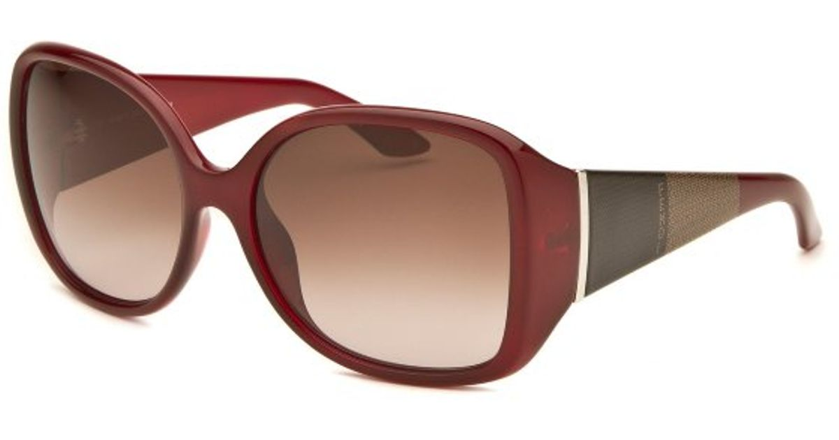 4fee3b03a5c Lyst - Fendi Womens Square Burgundy and Brown Sunglasses in Red