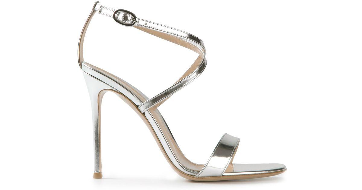 456a48719ca Lyst - Gianvito Rossi Metallic Sandals in Metallic