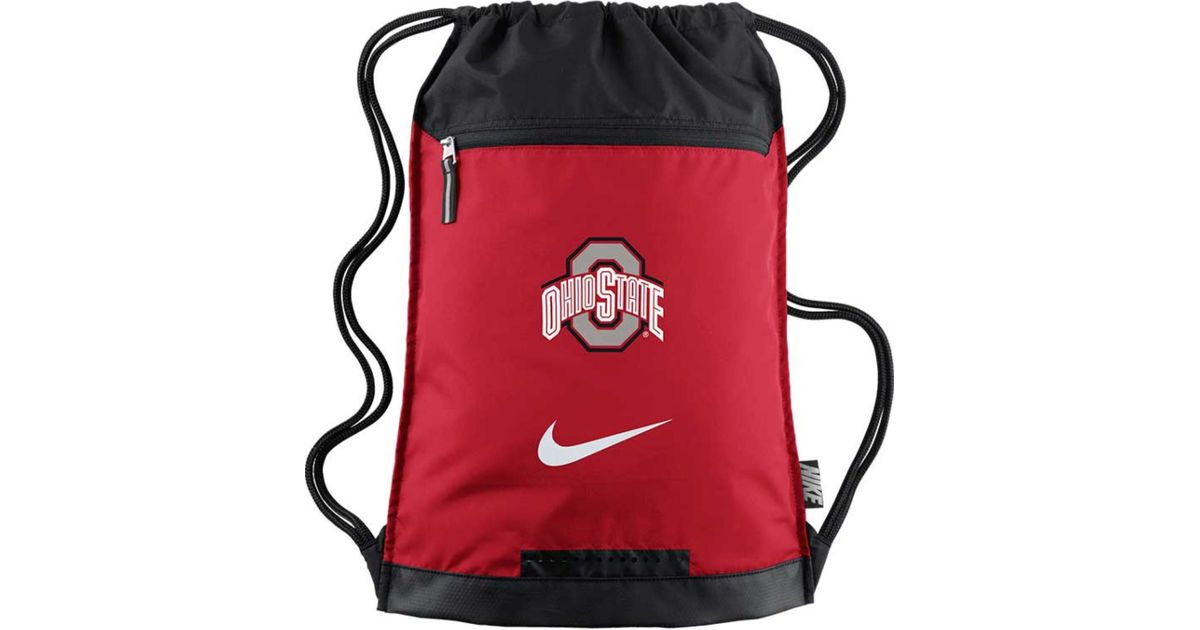 6d0a0a038a Lyst - Nike Ohio State Buckeyes Training Gym Bag in Red for Men