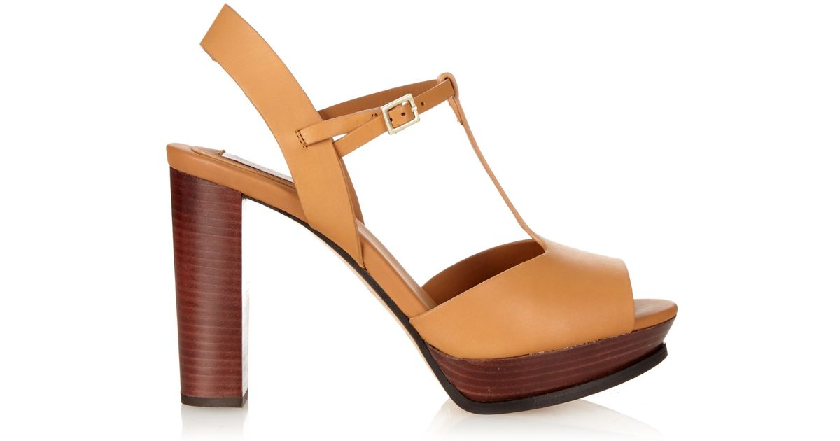 2ac202b9765c Lyst - See By Chloé T-Bar Leather Sandals in Brown