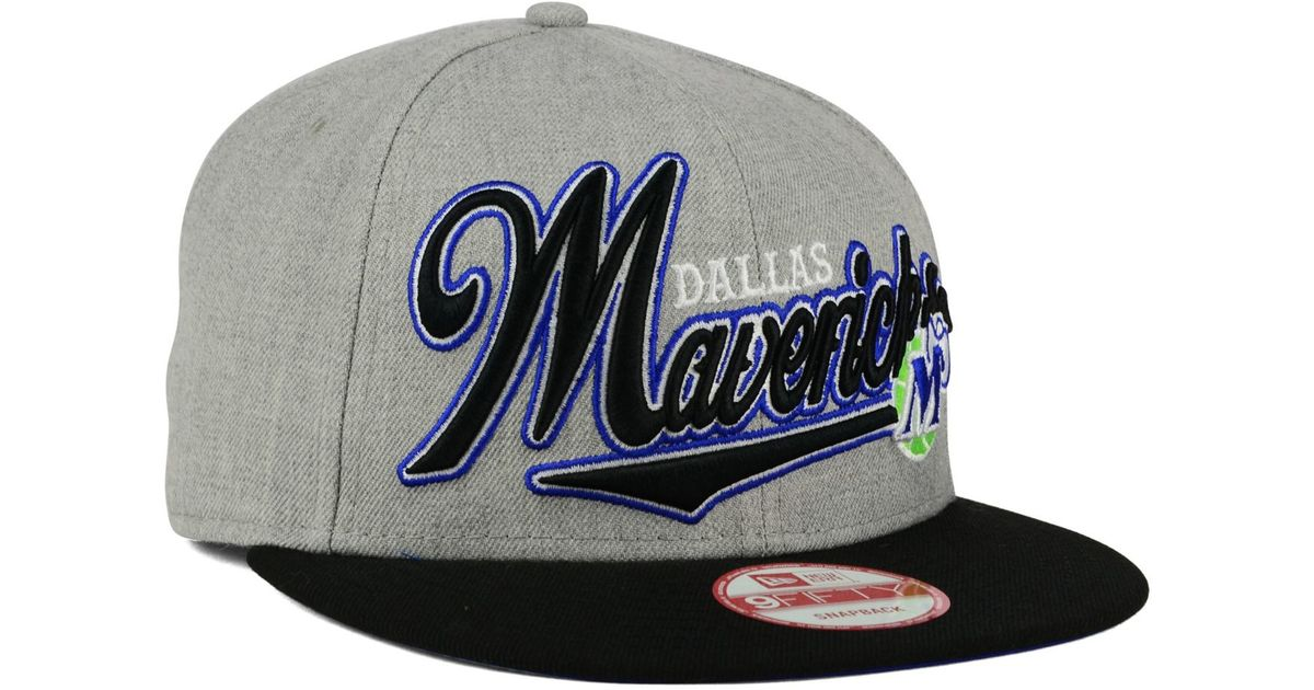 3edfc19cd5ea9 Lyst - Ktz Dallas Mavericks Big Heather 9fifty Snapback Cap in Gray for Men