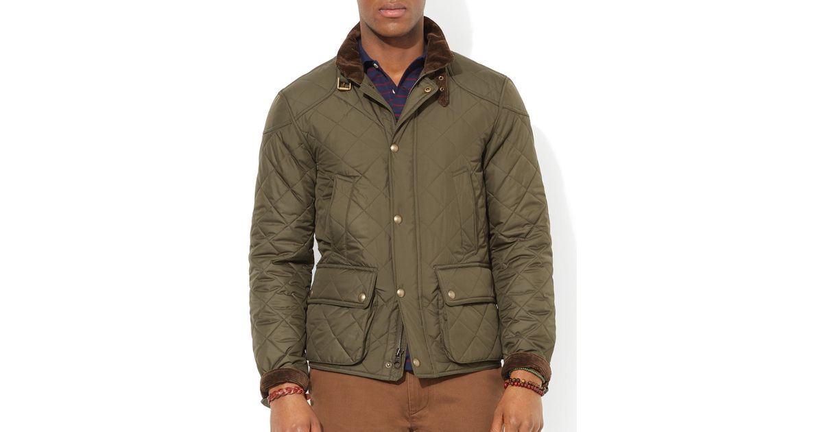 Lyst Ralph Lauren Polo Cadwell Quilted Bomber Jacket In Green For Men