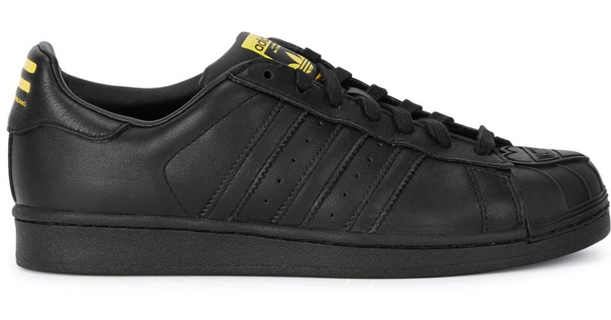premium selection 036d8 37607 adidas -x-pharrell-black-superstar-supershell-black-leather-trainers-product-0-600222249-normal.jpeg