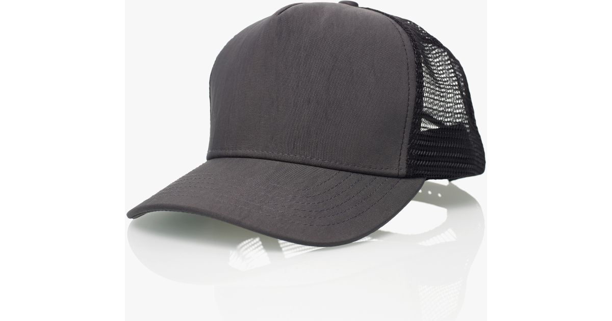 James Perse Double Face Nylon Trucker Hat - Online Exclusive in Gray for  Men - Lyst 715f0c7b961