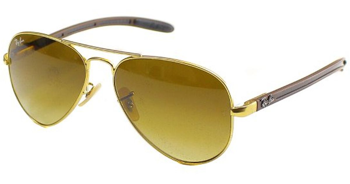 e21d4c08890 buy lyst ray ban ray ban rb8307 aviator carbon fibre 112 85 metal sunglasses  58mm in