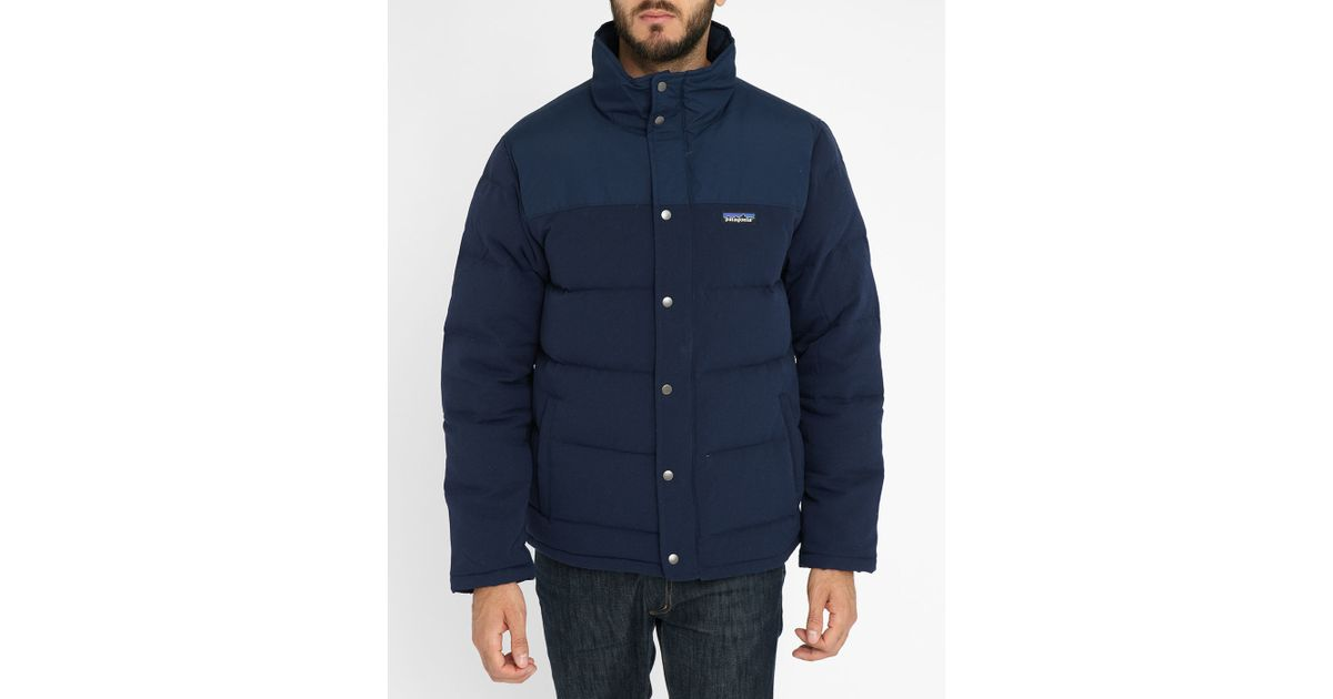 Patagonia Navy Retro Bivy Down Jacket In Blue For Men Lyst