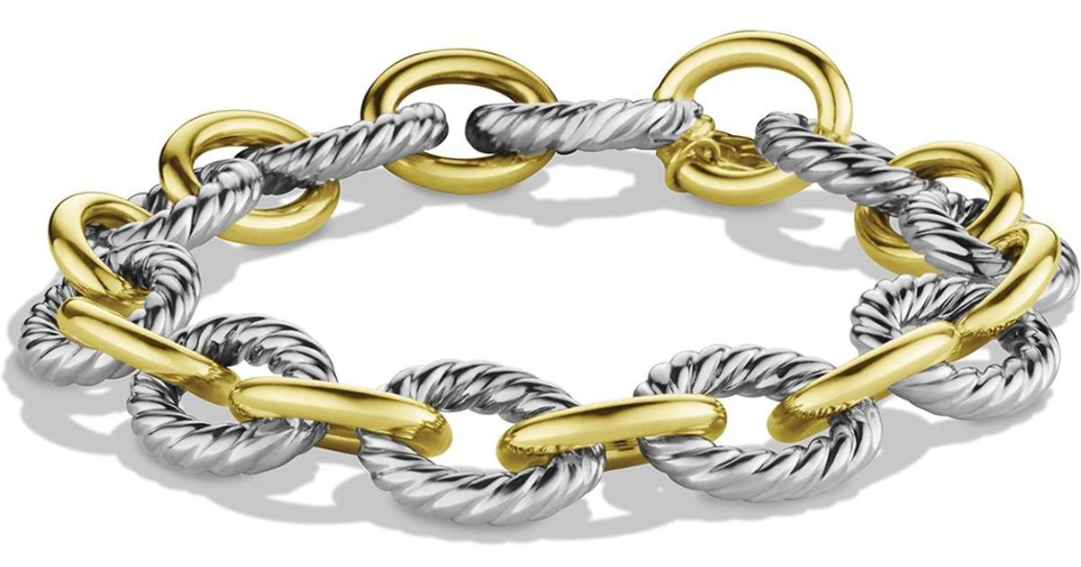 david yurman oval link bracelet david yurman oval large link bracelet with gold in silver 2128