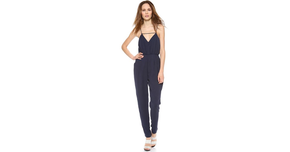 99ba2def0d6b Lyst - Finders Keepers The Someday Jumpsuit - Dark Navy in Blue