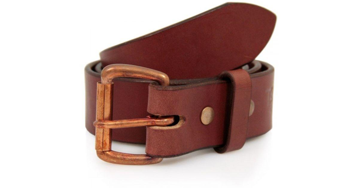 goods standard mahogany leather belt tgmb for