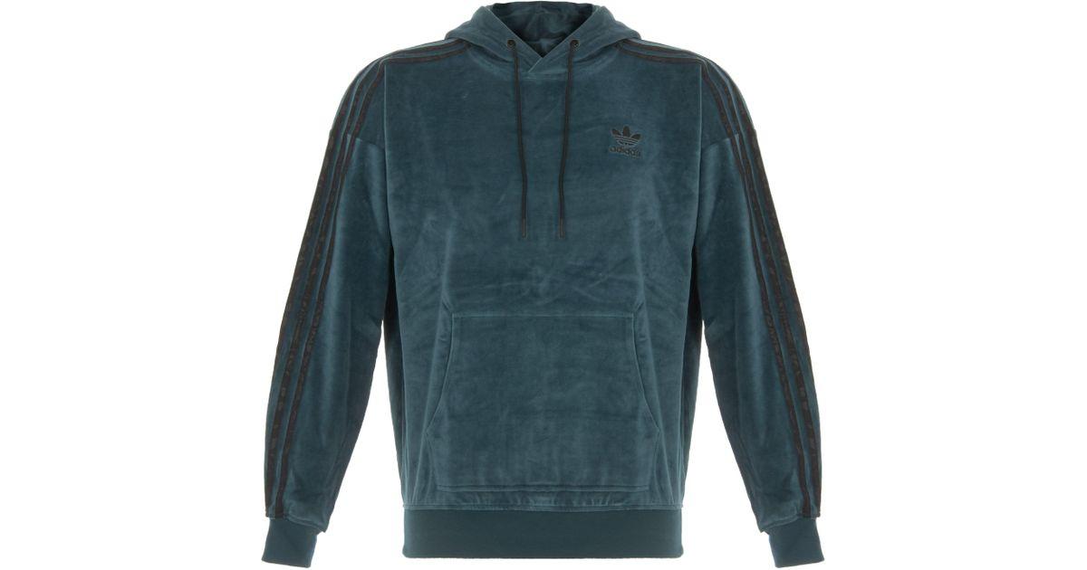 Lyst - adidas Originals Ornamental Block Velour Hoodie for Men 50e0dddc30