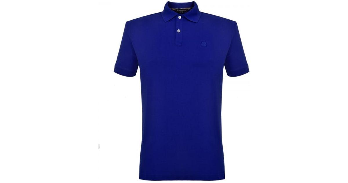 Lyst aquascutum hill pique cobalt blue polo shirt for Cobalt blue polo shirt