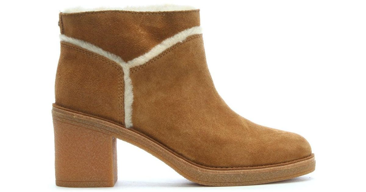 b2a8934d42e Ugg - Brown Kasen Chestnut Suede Ankle Boots - Lyst